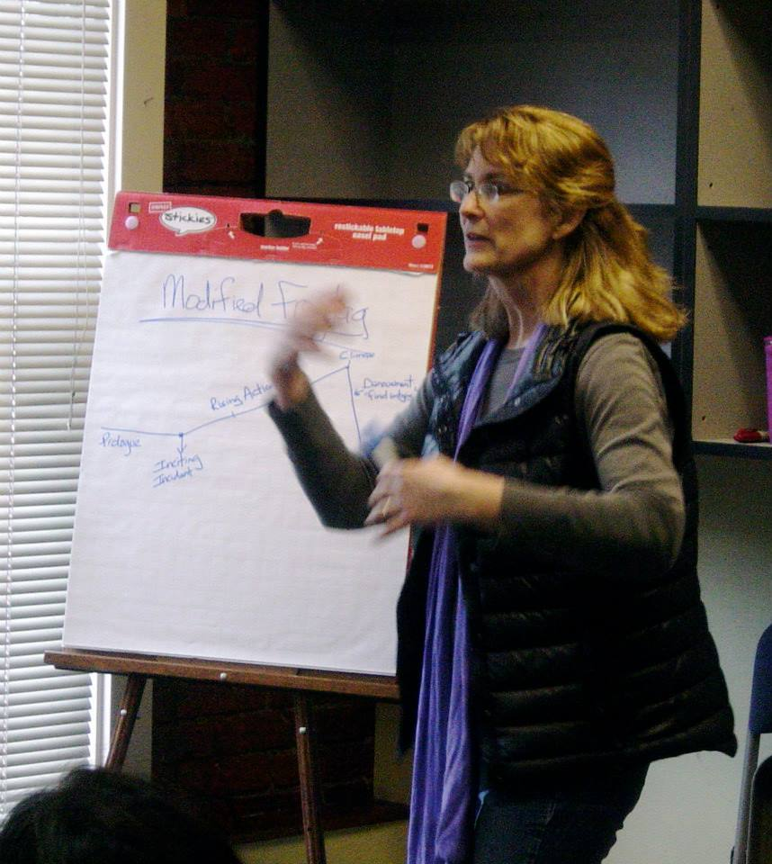 Elizabeth Heffron teaching